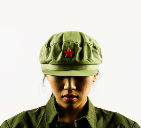 hauteur: Female army cadet in uniform LANG_EVOIMAGES