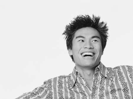 joyousness: Young man smiling
