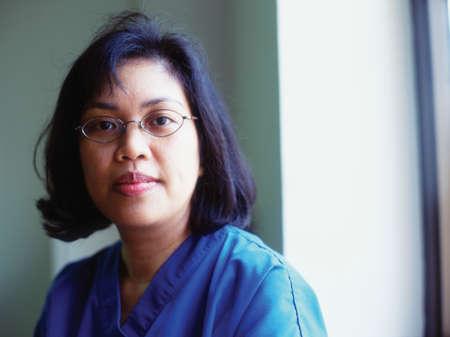 panache: Portrait of a female nurse smiling