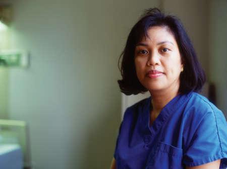 way of behaving: Portrait of a female nurse