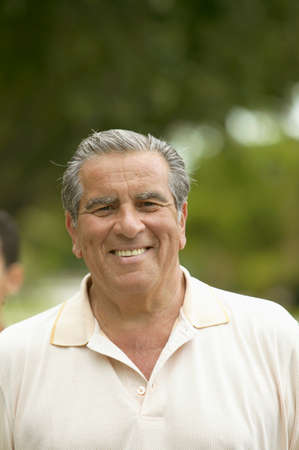 mirthful: Portrait of a senior man smiling