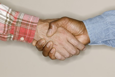 two persons only: Two men shaking hands
