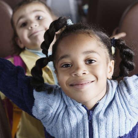 school life: Kids on School Bus