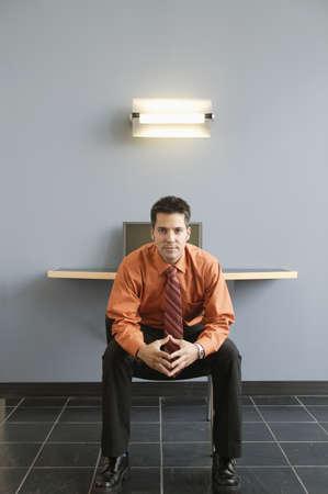 overburdened: Portrait of a businessman