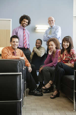 jamaican ethnicity: Portrait of a group of business executives