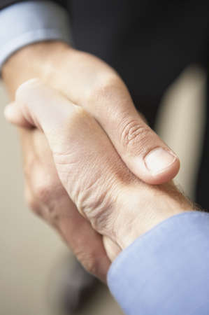 pacific islander ethnicity: Close-up of two businessmen shaking hands LANG_EVOIMAGES