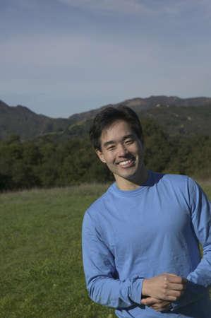 mid adult man: Retrato de un hombre de mediana edad sonriendo