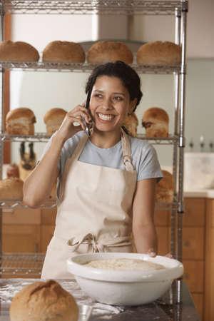 vivacious: Woman using mobile phone