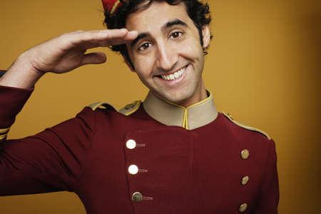 bellboy: Bellboy saluting