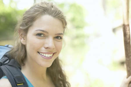 roughing: Portrait of a young woman smiling