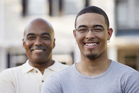 above 21: Portrait of father and son