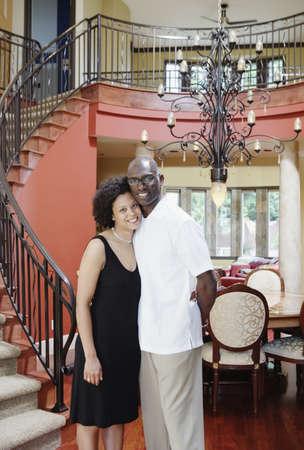 paternal: Couple posing inside house