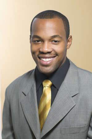 above 21: Portrait of businessman smiling