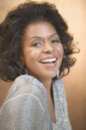 above 30: Portrait of African American woman smiling