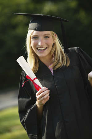 daydreamer: Young woman graduating