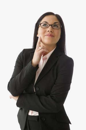 idealistic: Businesswoman thinking