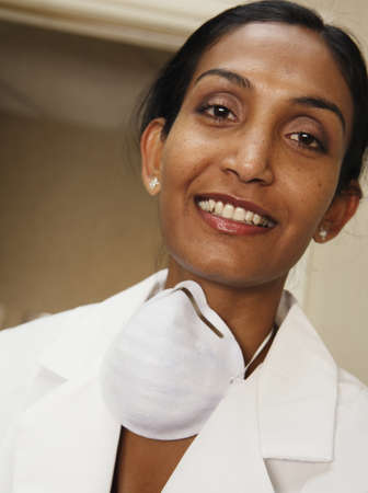 Female doctor smiling for the camera Stock Photo