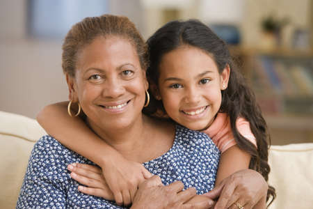 appendage: Mother and daughter hugging