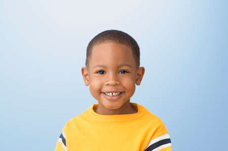 idealism: Close up of African American boy smiling