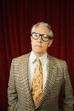 geeky: Older man in geeky glasses