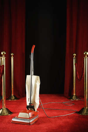 Vacuum standing on the red carpet