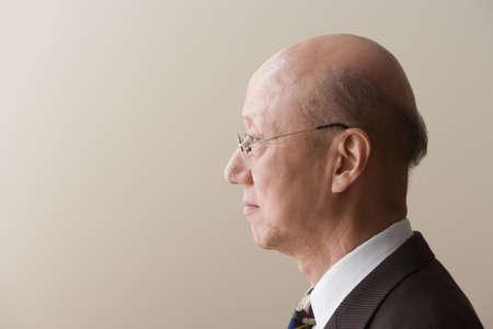 profil: Profil widok dojrzałego mężczyzny