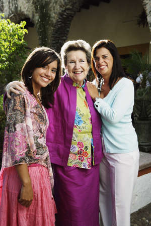 three generations of women: Three generations of women smiling for the camera
