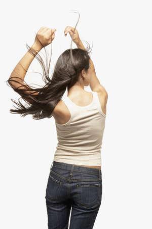 motioning: Young woman dancing