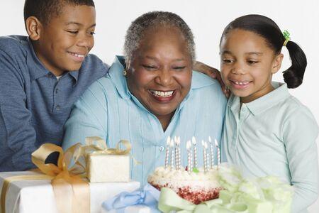 gramma: Senior woman celebrating her birthday