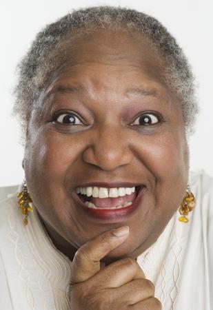 face shot: Senior woman smiling