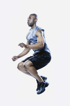 edmonds: African man jumping, Edmonds, Washington, United States