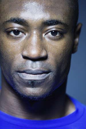 low spirited: Close up of African man, Edmonds, Washington, United States