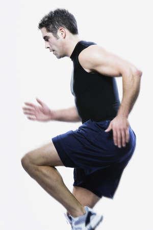 edmonds: Man running in place, Edmonds, Washington, United States,