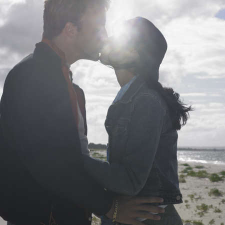 busselton: Couple kissing on the beach, Busselton, Australia