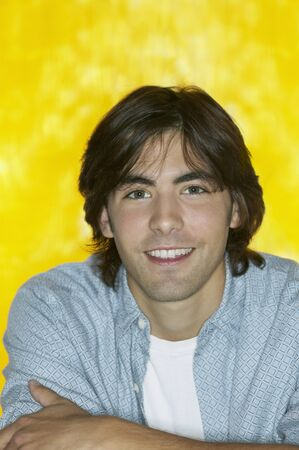 Close up of young man smiling LANG_EVOIMAGES