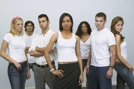 gaithersburg: Group of young people looking serious