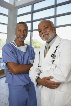 bethesda: Two middle-aged African doctors, North Bethesda, Maryland, United States