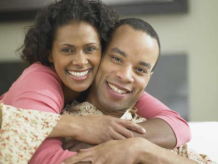 jamaican ethnicity: African couple hugging, Toronto, Canada