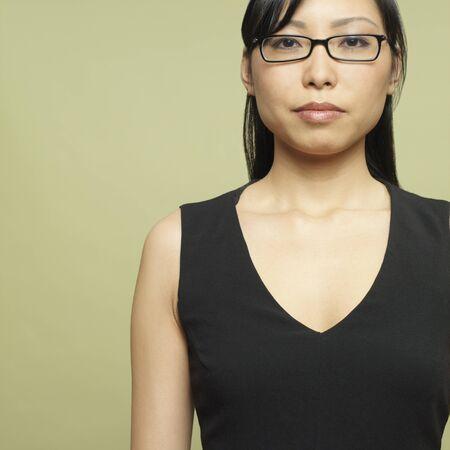 el salvadoran: Studio shot of Asian woman
