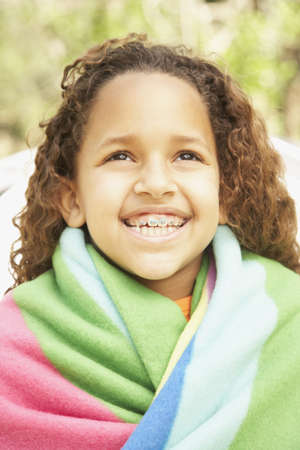 devilment: African American girl smiling with braces