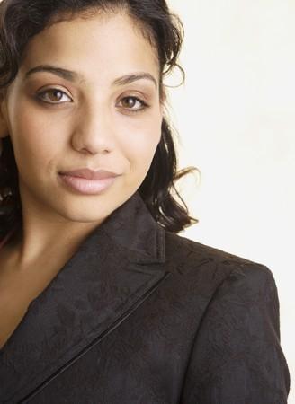 Studio shot of African businesswoman