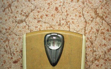 linoleum: Scale from 1950s on linoleum floor