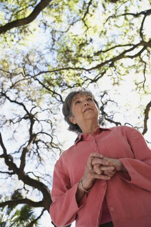 gramma: Low angle view of senior woman outdoors