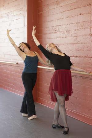 Two women at ballet barre LANG_EVOIMAGES