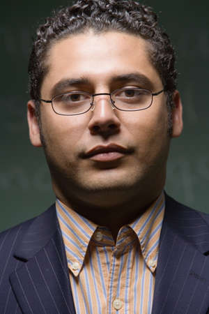 lower section view: Close up of Hispanic businessman