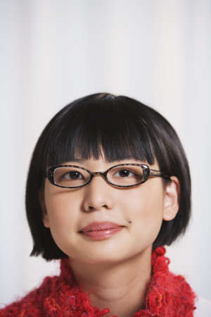 poppa: Young Asian woman wearing eyeglasses