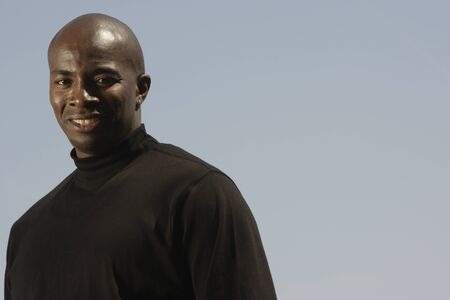 wooing: Close up of African man smiling