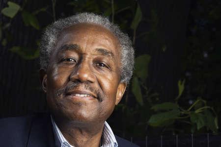 wooing: Close up of senior African man smiling