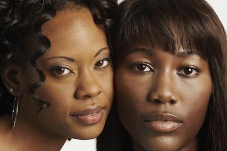 Portrait of two African women Stockfoto