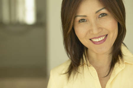 1 woman only: Close up of Asian woman smiling